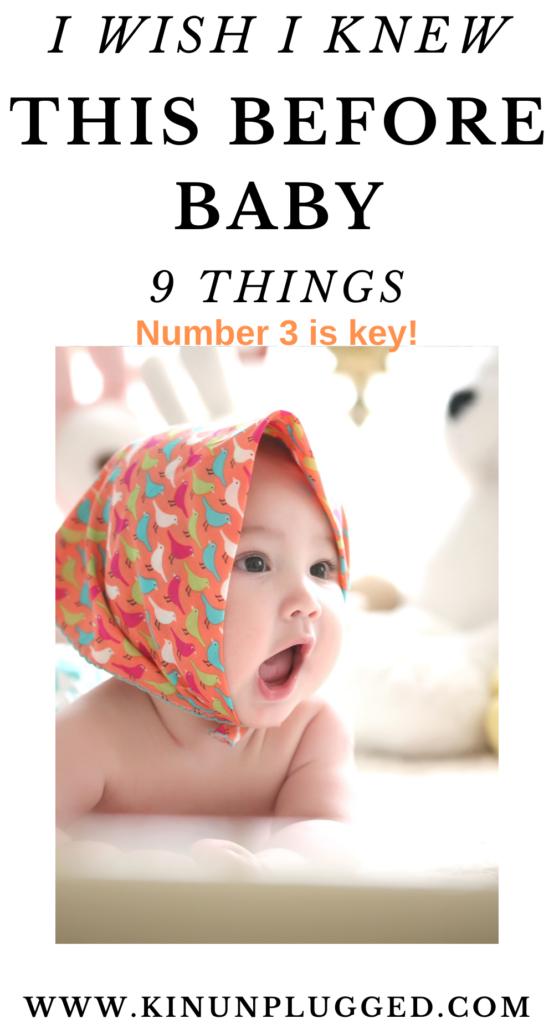 things i wish i knew before baby
