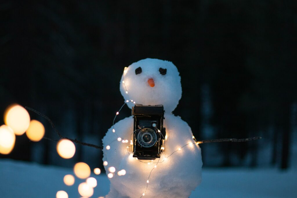 christmas new year snowman