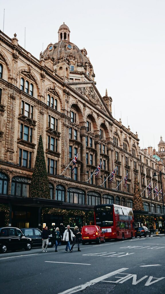 christmas shopping stress in central london